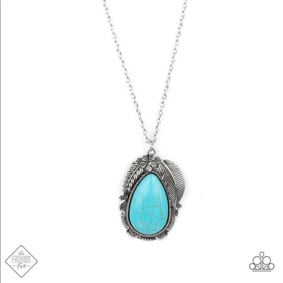 Tropical Mirage - Blue Necklace (long)